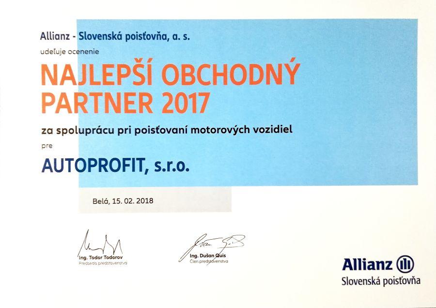 AUTOPROFIT GROUP - Najlepš obchodný partner 2017