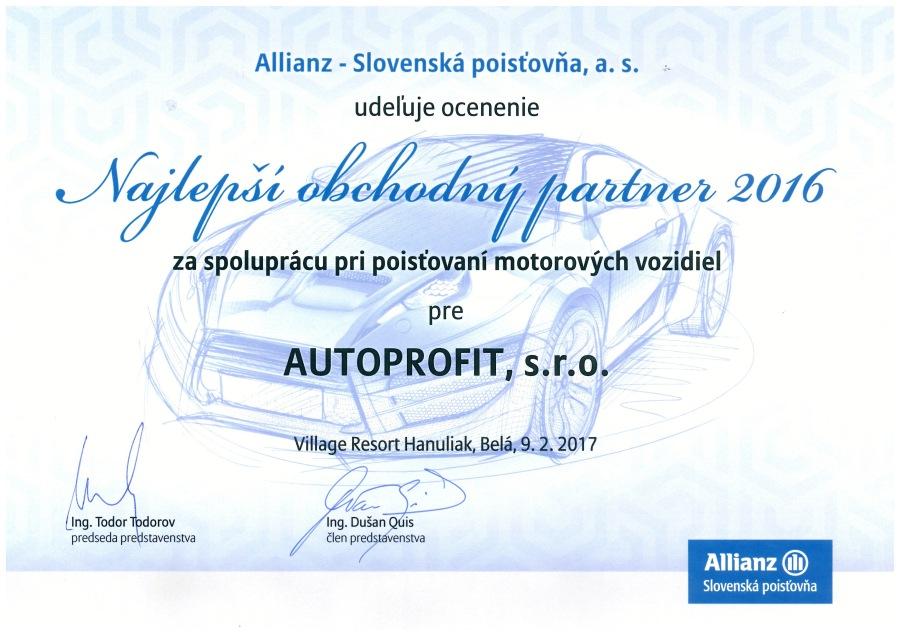 AUTOPROFIT GROUP - Najlepší obchodný partner 2017