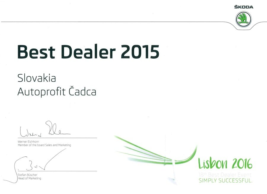 AUTOPROFIT GROUP - Best dealer 2015