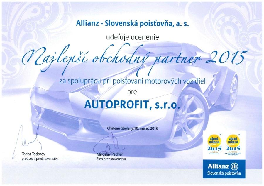 AUTOPROFIT GROUP - Najlepší obchodný partner 2015